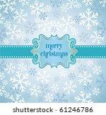 xmas background. | Shutterstock .eps vector #61246786