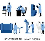 vector illustration of six... | Shutterstock .eps vector #612472481