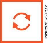 arrow circle line vector icon   Shutterstock .eps vector #612475559
