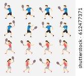 tennis player design vector | Shutterstock .eps vector #612477371