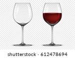 vector realistic wineglass icon ... | Shutterstock .eps vector #612478694