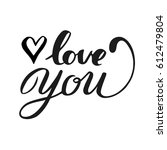 "hand lettering words "" love you""... 