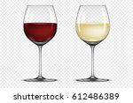vector realistic wineglass icon ... | Shutterstock .eps vector #612486389