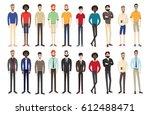 set of working people standing. ... | Shutterstock .eps vector #612488471