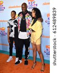 Small photo of LOS ANGELES, CA. March 11, 2017: Former basketball star Lamar Odom at the Nickelodeon 2017 Kids' Choice Awards at the USC's Galen Centre, Los Angeles