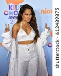 Small photo of LOS ANGELES, CA. March 11, 2017: Actress/singer Becky G at the Nickelodeon 2017 Kids' Choice Awards at the USC's Galen Centre, Los Angeles