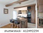 Stock photo contemporary kitchen interior 612492254
