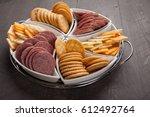 White Platter Of Crackers ...