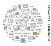 round line banner for online... | Shutterstock .eps vector #612494369