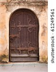 Old Medieval Door In Vilnius...