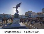 syros   greece  march 2017  the ... | Shutterstock . vector #612504134