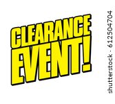 clearance event | Shutterstock .eps vector #612504704