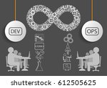 concept of devops  this... | Shutterstock .eps vector #612505625