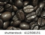 roasted coffee beans | Shutterstock . vector #612508151