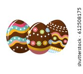easter eggs with nice... | Shutterstock .eps vector #612508175