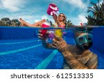 young couple have fun in...   Shutterstock . vector #612513335