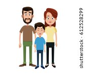 happy family icon | Shutterstock .eps vector #612528299