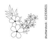 beautiful flowers design | Shutterstock .eps vector #612530021