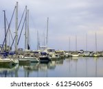 Abstract Of Yachts In A Small...