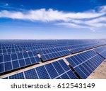 aerial solar power   Shutterstock . vector #612543149