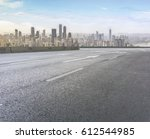 road and city skyline   Shutterstock . vector #612544985
