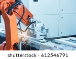 industrial machine and factory... | Shutterstock . vector #612546791