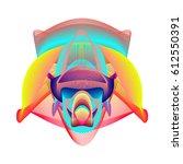 colorful vibrant wallpaper... | Shutterstock .eps vector #612550391