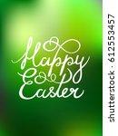 vector greeting text 'happy... | Shutterstock .eps vector #612553457