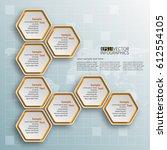 vector abstract 3d paper... | Shutterstock .eps vector #612554105