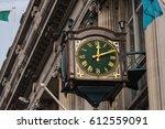 green street clock | Shutterstock . vector #612559091