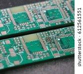 printed circuit board. green... | Shutterstock . vector #612561551