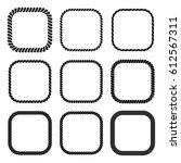 vector set of square black...   Shutterstock .eps vector #612567311