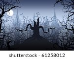 halloween night | Shutterstock .eps vector #61258012