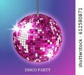 disco ball background | Shutterstock . vector #612580871