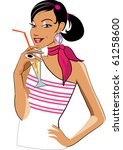 vector illustration of a... | Shutterstock .eps vector #61258600