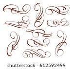 decorative elements.vector... | Shutterstock .eps vector #612592499