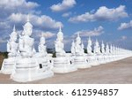 white buddha status on blue sky ... | Shutterstock . vector #612594857