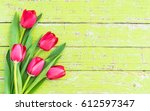 fresh bouquet of flowers ... | Shutterstock . vector #612597347