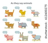 animals  set as they say... | Shutterstock .eps vector #612600275