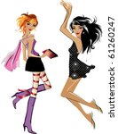 vector girls | Shutterstock . vector #61260247