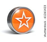 star   3d button with clipping... | Shutterstock . vector #61261423