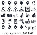 map pointer icons  gps location ... | Shutterstock .eps vector #612615641