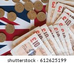 Pound Coins And Banknotes Mone...
