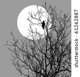 Illustration Ravens Sitting O...