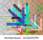 arrows elements pattern | Shutterstock .eps vector #612635294