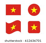 set 4 flags of vietnam | Shutterstock .eps vector #612636701