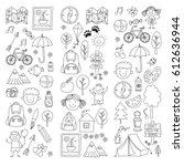 summer camp children  kids... | Shutterstock .eps vector #612636944