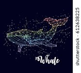 whale  constellation   vector... | Shutterstock .eps vector #612638225