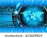 future technology  blue world... | Shutterstock .eps vector #612639824