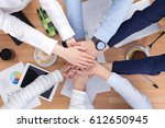 teamwork collaboration synergy... | Shutterstock . vector #612650945